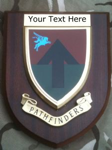 Pathfinders Parachute Regiment Personalised Military Wall Plaque Old Style
